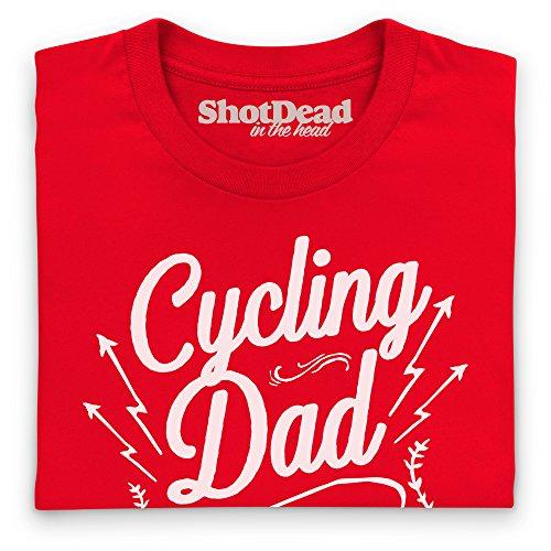 Cycling Dad T-Shirt, Herren Rot
