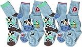 Disney Mickey Mouse Baby Socken 6er Pack - Micky mit Donald und Pluto - Blau/Mehrfarbig