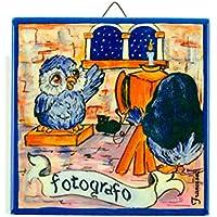 MATTONELLA Mestiere (cerámica, azulejos estampadas de sublimación con impresso el Mestiere del fotógrafo, Oggetto hacer mm15dimensiones: altezza10cm, larghezza10cm grosor 6mm.