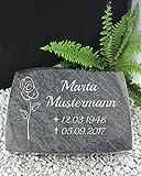 Grabstein Urnenstein inkl. Inschrift 40x30x7 cm Material: Bahama Blue