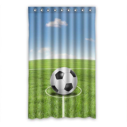 "Dalliy Fußball soccer Fenstervorhang Vorhang Window Curtain Polyester 52\""x84\"" about 132cm x 213cm(One piece)"