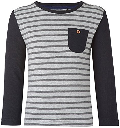 Noppies Jungen Langarmshirt B Tee Is Glastonbury 75415, Grey Melange, 104