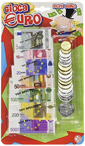 Globo Toys globo36331 W 'Toy Euro BANKNOTE/Coin Set (37) - Nerf Hubschrauber