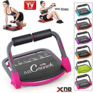 Xn8 Sports ABS Core Smart Body Exercise Machine AB Toning Workout Equipment Fitness Trainer Gym Home (Pink)