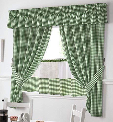 Casa, arredamento e bricolage set tendine da cucina con mantovana e ...