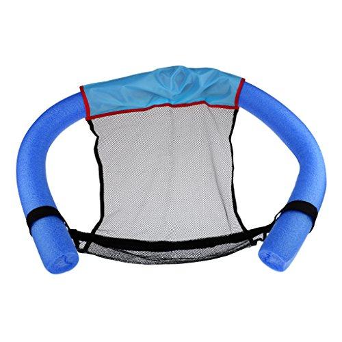 perfk Erwachsene Schwimmnudel mit Netz Wassersitz Poolnudel Pool Nudel Pool Nudel Swimming - Blau, M