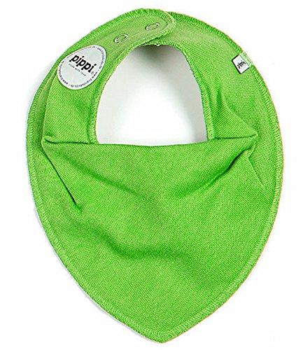 HALSTUCH Dreieckstuch Baby Kinder mit Druckknöpfen doppellagig grün