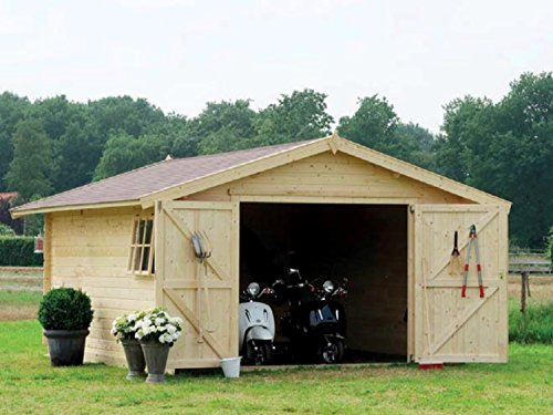 Garage 3054 - box auto in legno da giardino abete naturale gartenpro