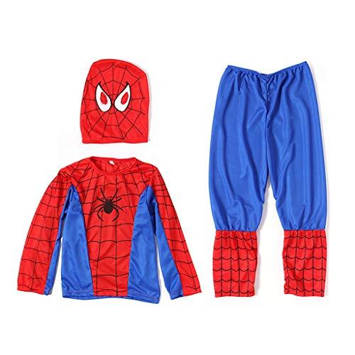 YUNMO Kinder Spiderman Kostüm Outfit geeignet für Unisex-Alter 2 bis 10 Jahre (größe : M)