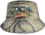 Trushop Cappello Unisex Bici Vintage con Cesto di Fiori Cappello da Sole Cappello da Pescatore Cappello da Esterno Cappello di Protezione Solare UV Cappello da Viaggio Pieghevole Leggero Traspirante