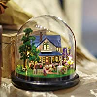 Awzzrs Kids Wooden Dollhouse Dolls House Furnitures Couture Dolls House Romantic Manor DIY Cottage