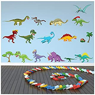 azutura Dinosaur Wall Sticker Set Triceratops T Rex Wall Decal Kids Room Home Decor available in 8 Sizes X-Large Digital
