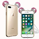 Compatible avec iPhone 7 Plus / iPhone 8 Plus Coque, 3D Adorable Mickey Oreille Etui...