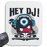 """Mousepad alfombrilla de ratón """"Ey DJ MONSTRUO como DJ con los auriculares y grabar música JA..."""
