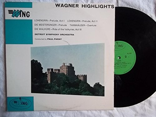 WL 1010 Wagner Highlights DSO Paul Paray LP