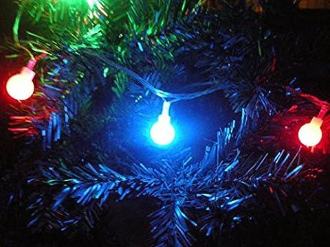 sixcup 4m 22LED warm weiß/bunt Lichterkette, Fairy Starry Lichterkette dekorativer Seil Lichter, Lichterkette für Weihnachten, Tree Party Hochzeit Events Garten, Halloween Party, wasserdicht IP44lang Globe Lichterkette, RoHS, CE zertifiziert Einheitsgröße (Batteriebetriebene Globe-leuchten)