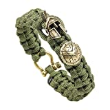 MansWill Unisexe Bracelet de Paracorde Décontracté, Bracelet Tressé de Sports...