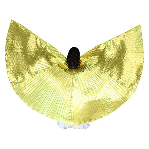 JIEHED Children Girls Dancers LED Cloak, Performance Luminous Butterfly Wing Belly Dancing Costumes Glowing Performance Clothing for Carnival, Stage, Party Fairy Performance for 110-140cm Kids (Belly Dancer Dress Up Kostüm)
