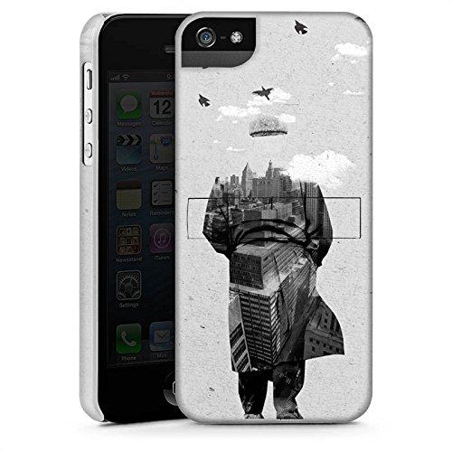 Apple iPhone X Silikon Hülle Case Schutzhülle Silhouette Mann Wolken Premium Case StandUp