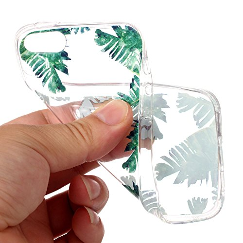 Cover iPhone SE 5 5c 5s, SportFun Slim Flexible TPU Custodia Protettiva in silicone per iPhone 5S 5 5 C SE Case (Bananenbaum) Bananenbaum