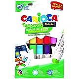 CARIOCA TEMPERELLO TEXTIL | 42324 - Témperas Solidas en barra para Tejido/Tela, 10 Colores