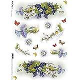 Accademia del Decoupage 32 x 45 cm de papel de arroz, y mariposas