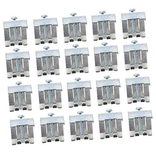ENET - Pinzas de fijación para Fregadero de Cocina, 10 - 20 Unidades, Metal y Acero Inoxidable