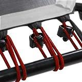 SportPlus Gummiseile-Set für SportPlus Fitness Trampoline, 36 Bungee-Seile inkl. Befestigungsclips, Härtegrad medium, Nutzergewicht ca. 60 bis 90 kg, rot