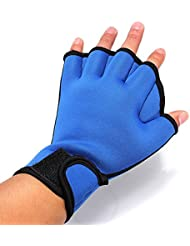 Tutoy Fingerness Natation Grenouille Gants Palmés Gants Fitness Training Gloves -S Bleu