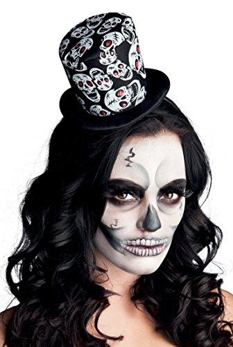(Boland–Tiara Cap Tuba Skulls Skull Glance unisex-adult, Schwarz, One Size, 97010)