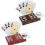 hopewey 2 x Texas Holdem Poker Playing Cards Wasserdichtes Pokerkarten Plastik Spielkarten aus PVC Profi Premium Spielkarten