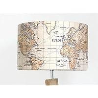 Lampenschirm Tageslicht Welt Karte Globus Globus Welt Karte Leuchte Rundzylinder Idee Geburtstag Vatertag Dekoration Bibliothek Studie