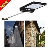GrandBeing - Lampada Wireless ad Energia Solare da Giardino con Sensore di Movimento, 36 LED, 4...