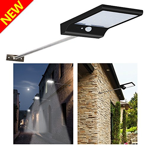 Street light amazon solar lights 36 led wall lights 450lumens wireless waterproof motion sensor light with 4 intelligent modes rechargeable 2600mah batteries outdoor security mozeypictures Image collections