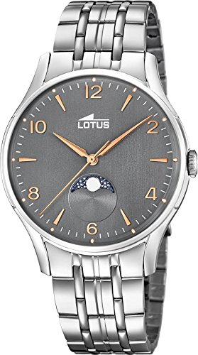 Lotus Klassik 18425/2 Mens Wristwatch Lunar Phase Indicator