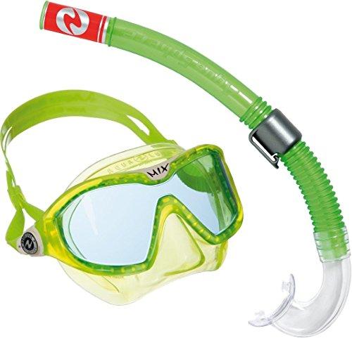 Aqua Lung Sport Kinder-Schnorchel-Set mit Tauchmaske und Schnorchelrohr Einheitsgröße grün - Lime