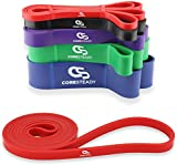 Coresteady Resistance Bands | Assisted Pull Up Band | Exercise Workout Bands for CrossFit - Powerlifting - Yoga - Stretch Mobility Exercise (One per sale) for Men and Women