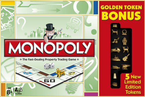 Monopoly Goldene Spielfiguren Limited Edition (Englische Sprache) [UK Import]