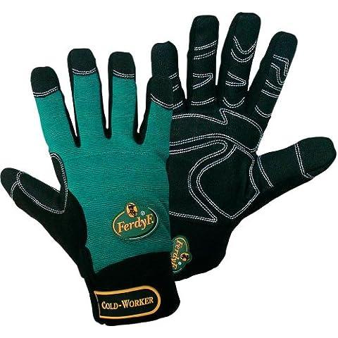 1 par FerdyF Guantes Mecanica Cold Worker Verde-Negro, Color:Green-Black;Size:XL (10)