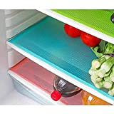 Kuber Industries™ Place Mats/Drawer Mats/Fridge Mats/Multi Purpose Mats/Refrigerator Mats Set of 6 Pcs (Multi)
