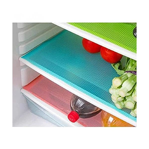 Kuber Industries PVC 6 Piece Refrigerator Drawer Mat Set – Multicolour