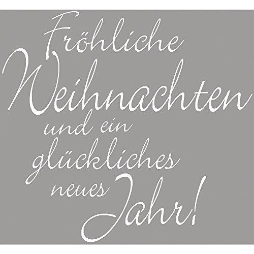 Rayher 2802700, Stempel, Fröhliche Weihnachten, 6 x 6 cm -