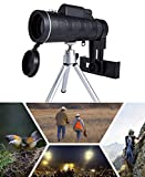 #3: 40x60 Telescope for Mobile Accessories Bag Digital Kit Set Lens High Power Hd Monocular Holder Camera Phone Focus Zoom Portable Camping Scope Smartphone Hiking Fishing Compass Clip Tripod
