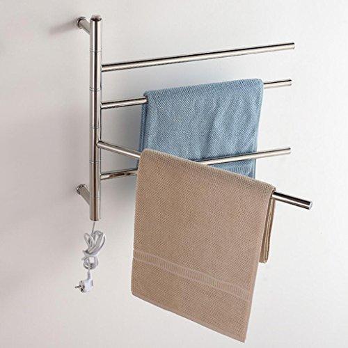 FANGYAO Giratorio montado en la pared de acero inoxidable eléctrico toallero / radiador Baño / Calentador de toallas 9007