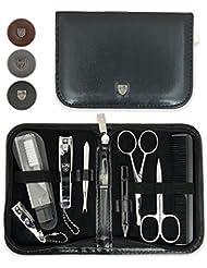 Drei Schwerter | Exklusives 10-teiliges Maniküre - Pediküre - Nagelpflege - Reise-Set | VERSCHIEDENE FARBEN | Marken-Qualität (634511)