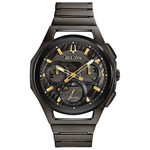 Bulova Herren Chronograph Quarz Uhr mit Edelstahl Armband 98A206 - Grau Bulova Herren Uhr