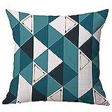 Dragon868 Kissen Hülle Geometrische Muster Tiermalerei Leinen Pillowcase Dekorative Kissen Abdeckungen 45x45 cm
