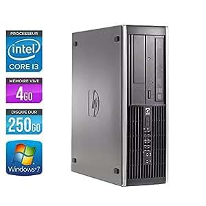 HP 6200 Pro SFF - Ordinateur de bureau - Noir (Intel Core i3-2100 / 3.1 GHz, 4 Go de RAM, Disque dur 250 Go, Graveur DVD, Windows 7 Professionnel)