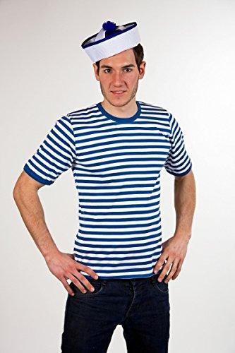 Ringelshirt - halbarm - blau/weiß - Größe: 8/XL (Shirt-kollektion 8)
