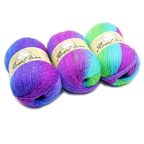 MM456 Strickwolle - 100 g Häkelgarn in verschiedenen Farben - Häkelwolle, perfekt für jedes Häkeln, Stricken, Mini-Projekt, Decken, Puppen, Matten, Schal und mehr, 9, 100.0g/Skein (Häkeln Baby Halloween Kostüme)